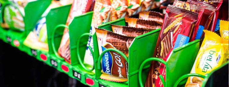 Productos saludables en máquinas vending