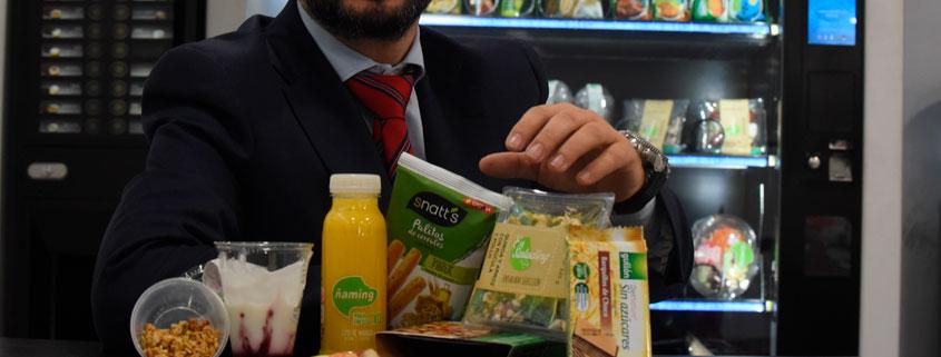 alimentos saludables en máquinas expendedoras