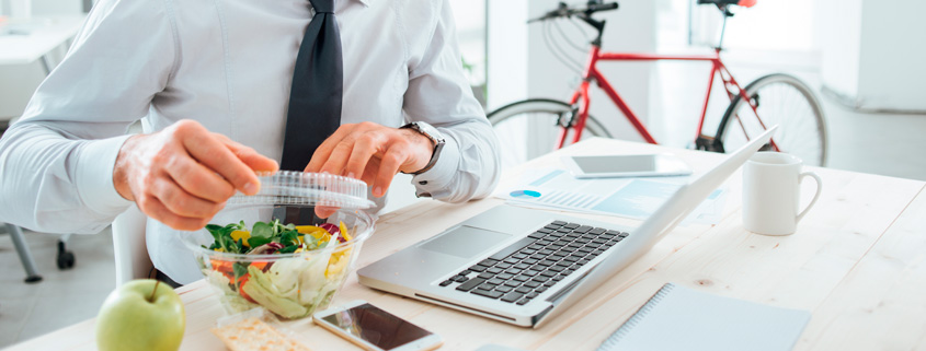 Cómo alimentarse de manera sana en el trabajo