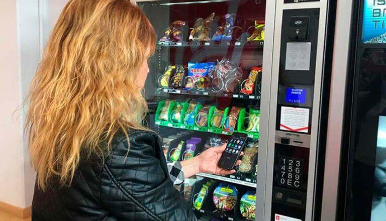 información nutricional en las máquinas expendedoras